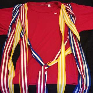 Adidas Oversized Tee With Ribbon Detail