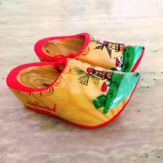 Wooden Decorative Shoes From Holland