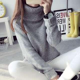 🌟全新🌟簡約設計高領套頭毛衣