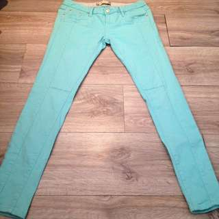•TWO TWO•湖水綠修身鉛筆褲💖