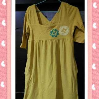 蜂蜜芥末黃小洋裝🍋