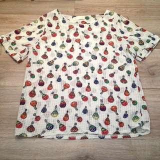 •蘋果星沙•滿版熱氣球雪紡上衣