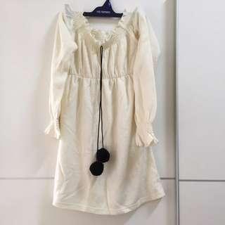 白色公主風小洋裝