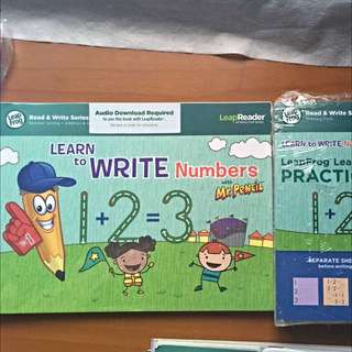 LeapFrog LeapReader Book Learn to Write Numbers with Mr Pencil