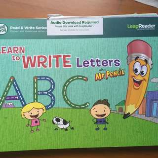LeapFrog LeapReader Book Learn to Write Letters with Mr Pencil