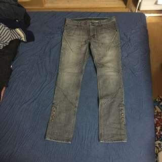 日本製 保證真品 NUMBER NINE 石洗 水洗 黑 灰 牛仔褲 4x30