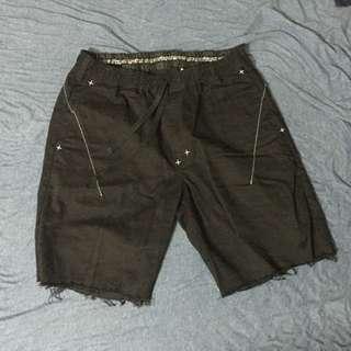 保證真品 NUMBER NINE X DICKIES 聯名 黑色 抽鬚短褲