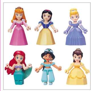 !換!徵求公主交換 迪士尼積木 公主 絕版扭蛋 Yujin