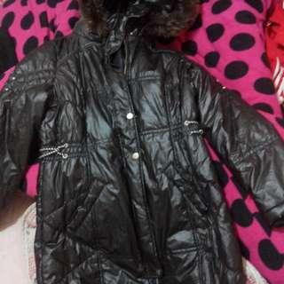 防風防水保暖黑色長外套