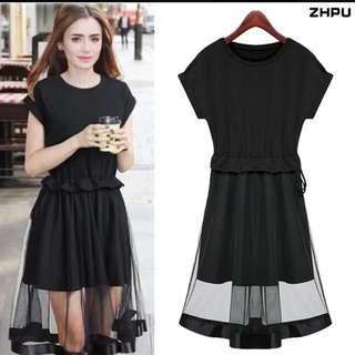 Simple Black Dress w/ Mesh