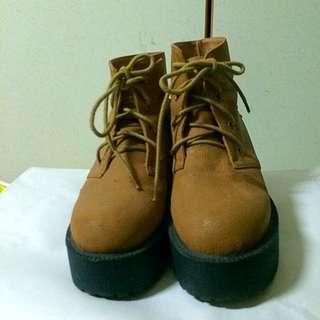Grace Gift 厚底鞋 短靴 靴子 38號