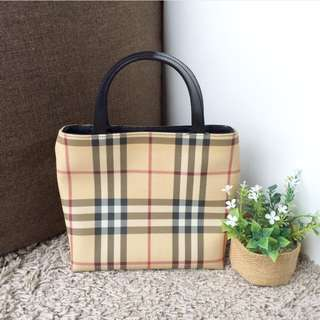 Small Haymarket Mini Burberry Tote