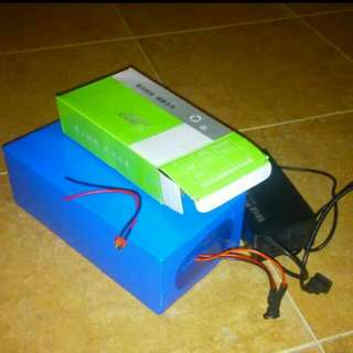 36v 20ah Lithium Battery Ebike with 2 Pin Charger Plug