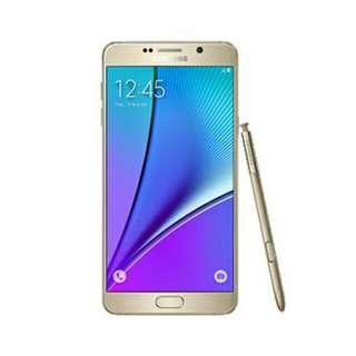 Samsung Note 5 (64GB) Gold.