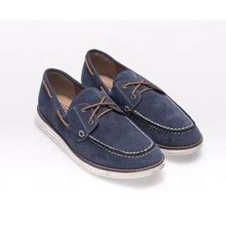 富發牌絨布綁帶帆船鞋休閒平底鞋男鞋紳士鞋皮鞋休閒鞋