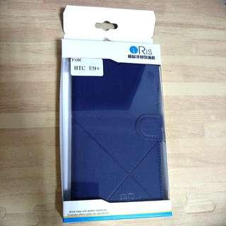 HTC E9+  深藍色 手機 皮套