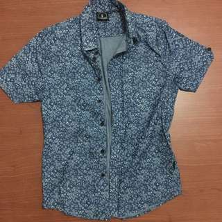 Flesh Imp Blue Floral Shirt XS