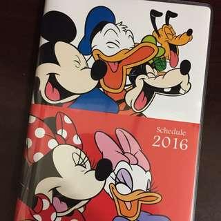 2016 迪士尼米奇記事本 手帳本