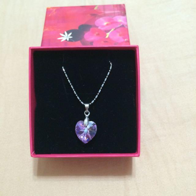 愛心紫水晶項鍊