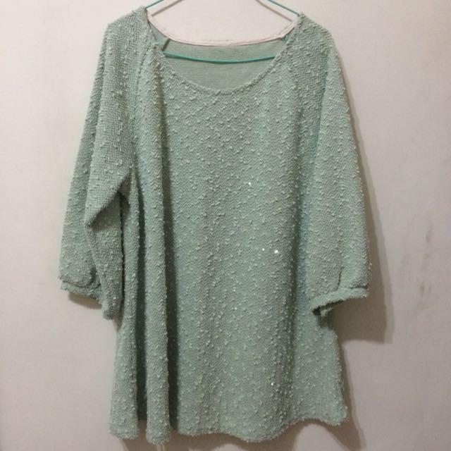⬇️湖水綠上衣(裙)