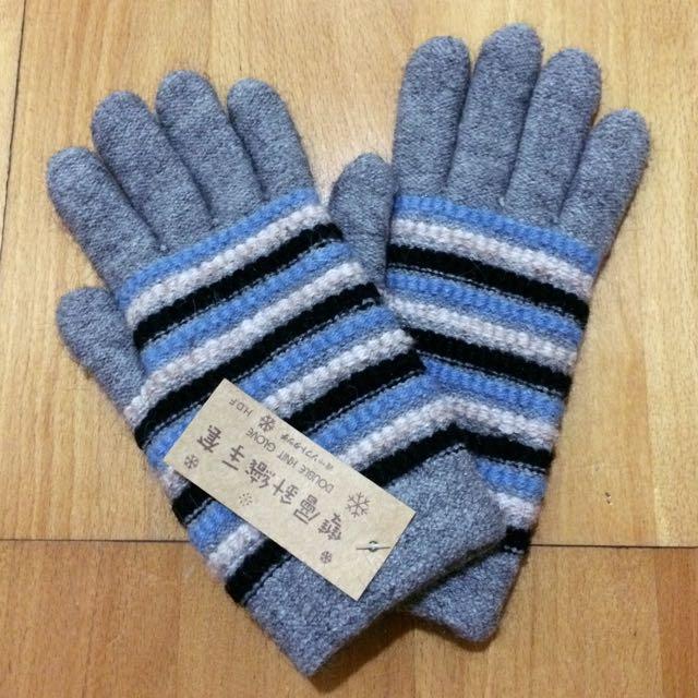 (特價!)(全新)雙層針織手套