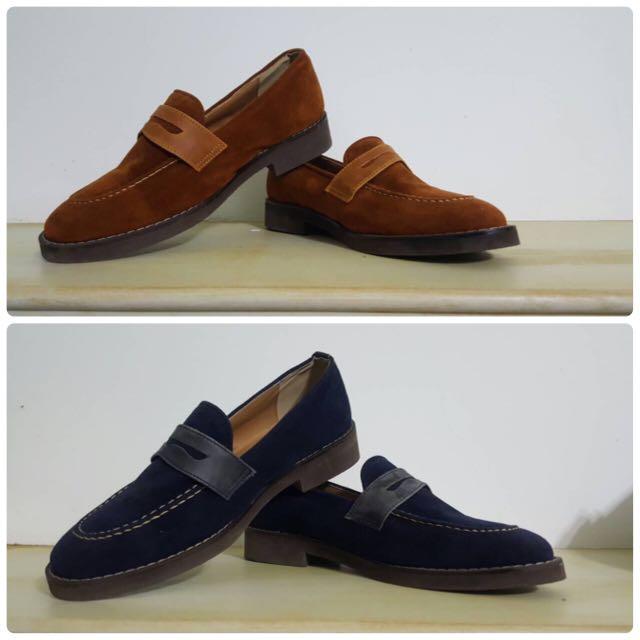 2雙一起賣!正韓/麂皮/雅痞紳士休閒鞋/歐碼 40(26號)