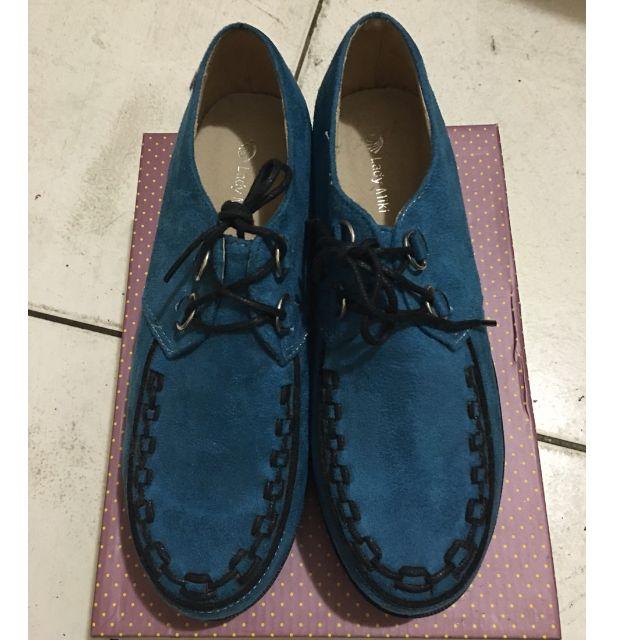 藍色厚底鞋 40 全新