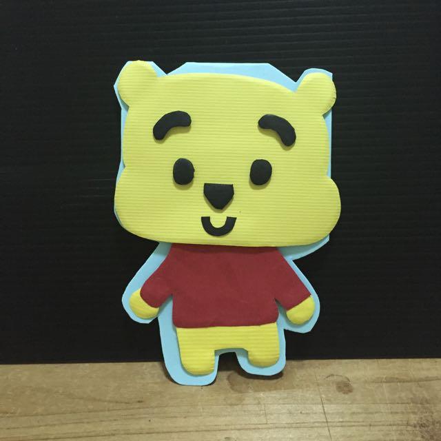 維尼熊 手工卡片 立體卡片 (可預訂)