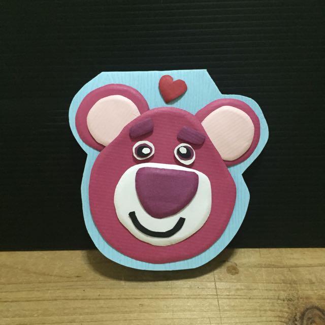 熊抱哥 手工卡片 立體卡片 (可預訂)