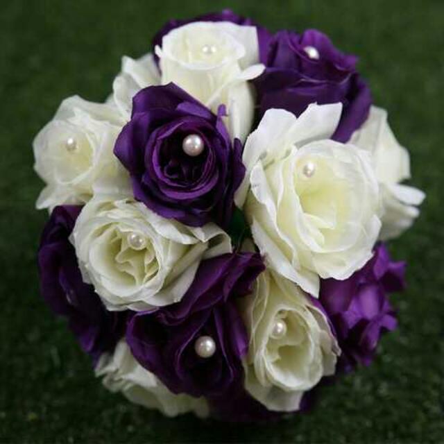 仿真玫瑰珍珠花球 婚禮佈置 /拍照 /派對
