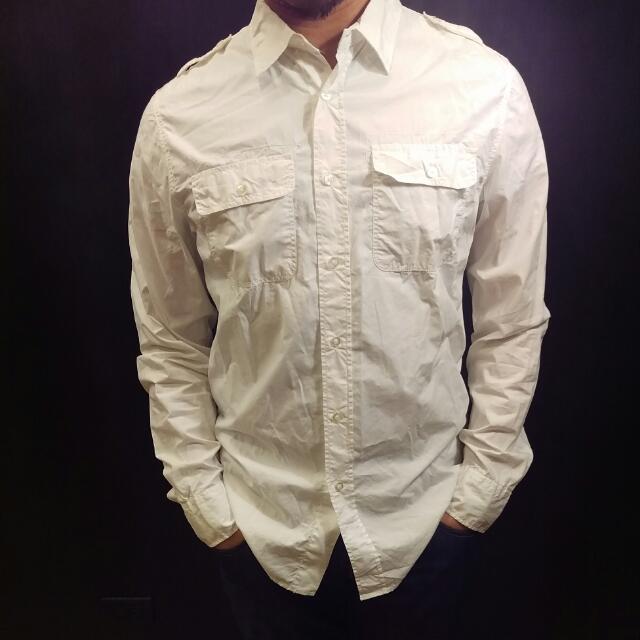 Bershka白色襯衫