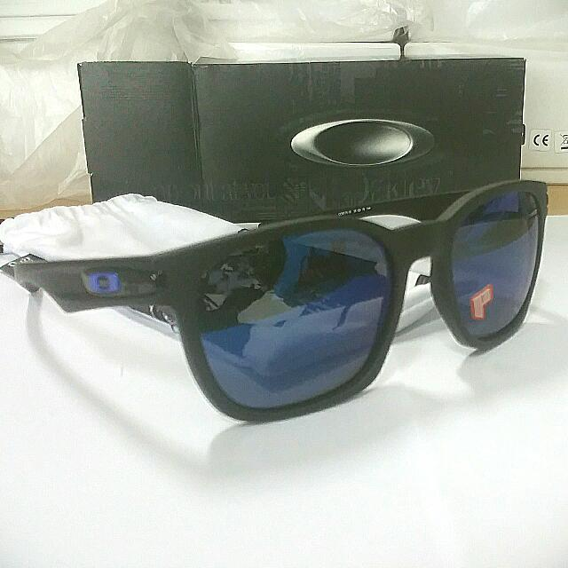 bd4ba3be959 BNIB Oakley 9175 16 Garage Rock Matte Black Ice Iridium Polarized Moto GP  Shades