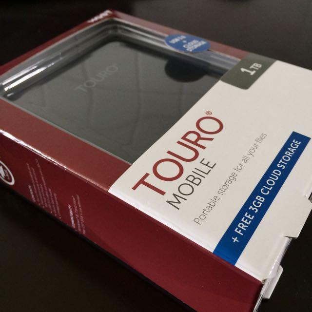 Brand New 1TB USB 3.0 Touro Mobile Portable Storage