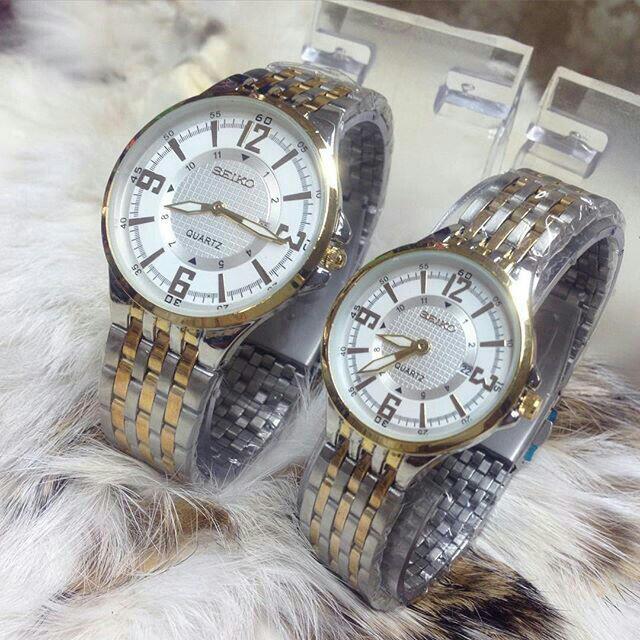 Couple Seiko 212 Watch / Kombi Plat Putih