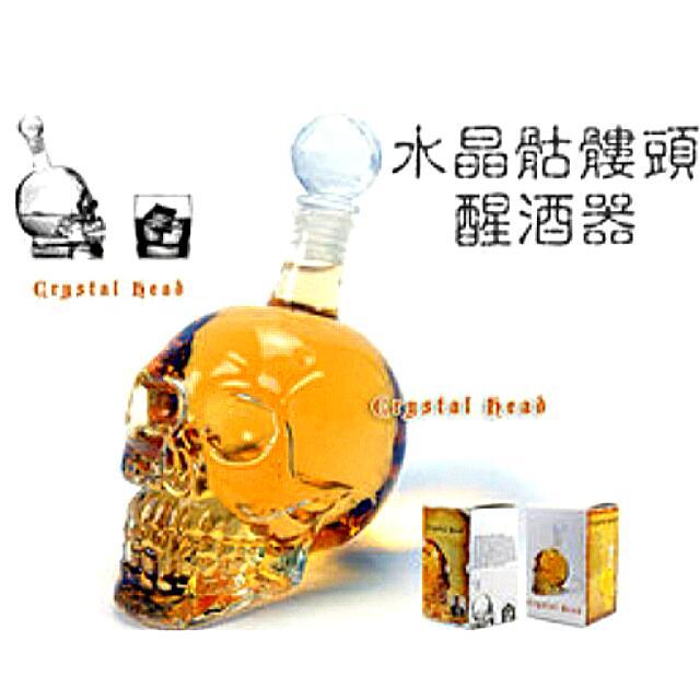 Crystal Head 水晶骷髏頭體醒酒器/骷髏杯/水瓶/啤酒瓶