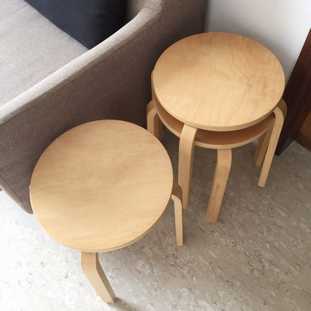 Marvelous 3X Ikea Frosta Stool In Birch Plywood Furniture On Carousell Ncnpc Chair Design For Home Ncnpcorg