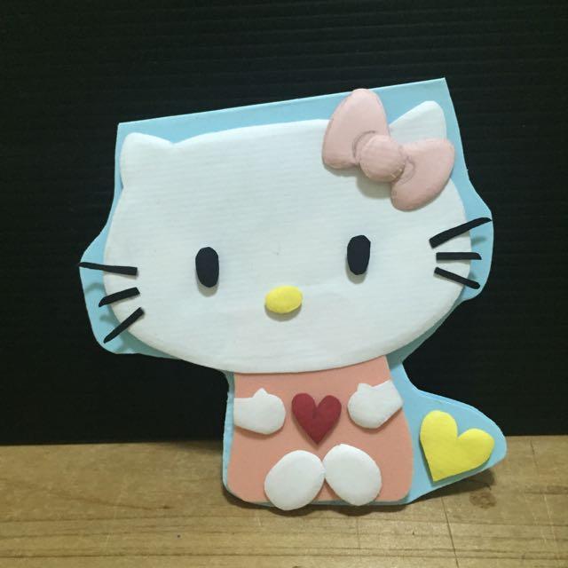 Kitty 手工卡片 立體卡片 (可預訂)