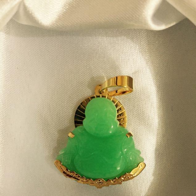 Laughing buddha jade pendant luxury on carousell photo photo photo aloadofball Gallery