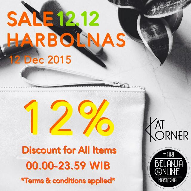 "ONLY 7 HOURS LEFT!!  ""HARI BELANJA ONLINE NASIONAL"" with KAT KORNER!!"
