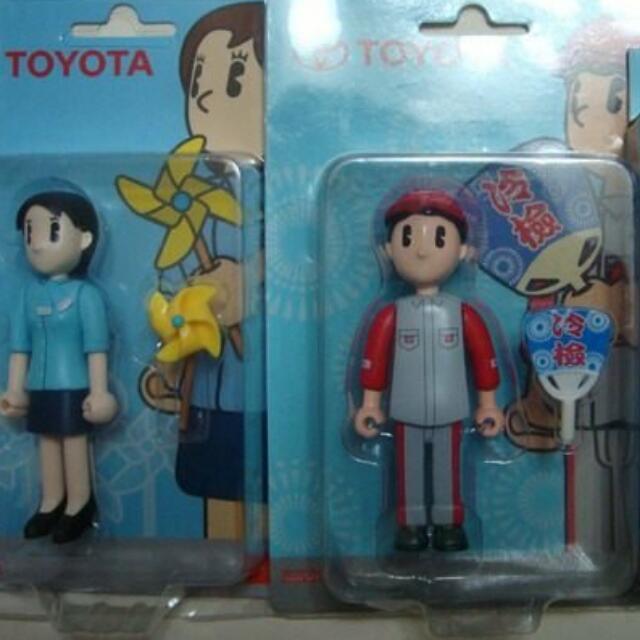 TOYOTA 3隻 玩具 公仔