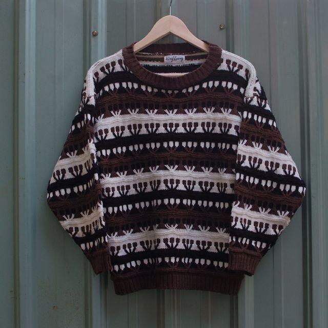 vintage 北歐立體編織紋古著毛衣 sw-14