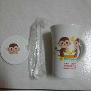 💛全新💛猴子杯附湯匙。滿600元可免費索取