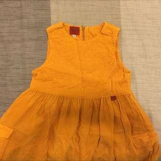 隨緣賣》》Kenzo Jungle亮橘女童洋裝