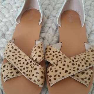 Sportsgirl Leopard/mint Sandals Sz 9 BNWT