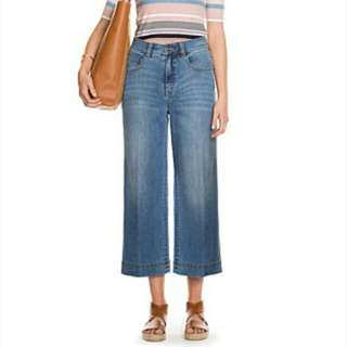 Country Road Wide Leg Crop Jeans Sz 14