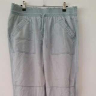 Country Road Chambray Utility Pants Sz 14