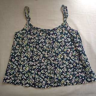 Don't Ask Amanda Floral Crop Singlet Top