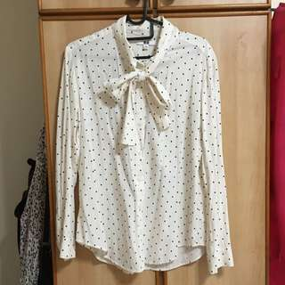 Uniqlo Long Sleeve Top With Bow