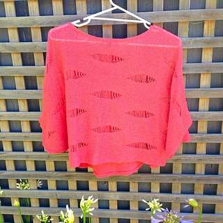 Ladakh Watermelon Knit Top Size S/M