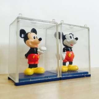 《代售》日本絕版 小櫥窗公仔 米奇 兩隻一起賣